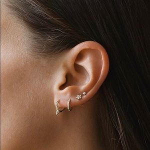 Tiny Spike Hoop Earrings